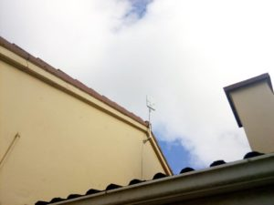 Rooftop installation on a house eave in Kilmaley
