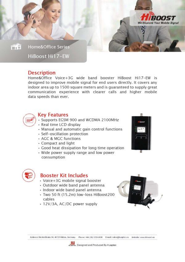 Hiboost Hi17 EW Dual Band Repeater I
