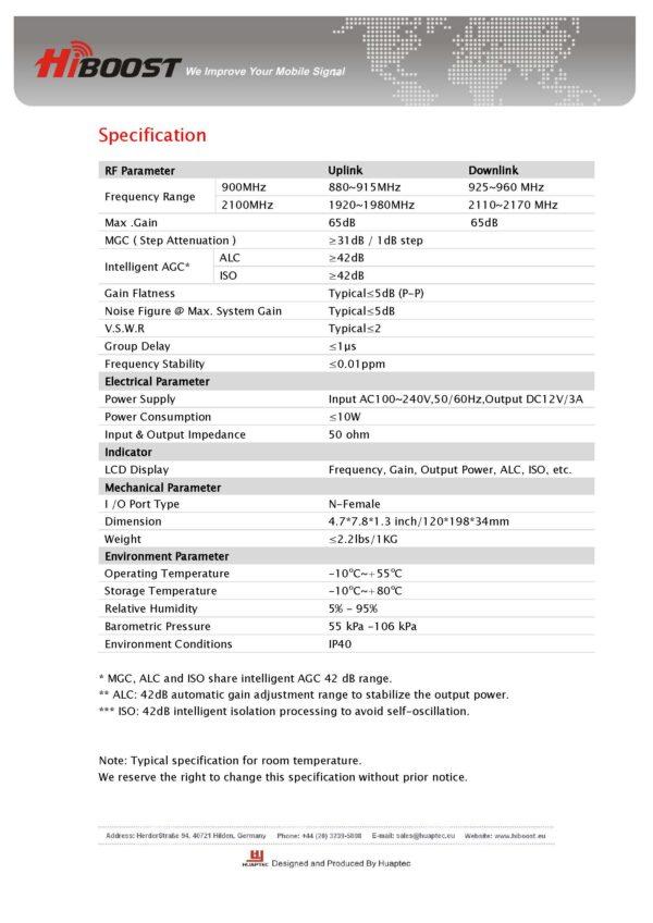 Hiboost Hi17 EW Dual Band Repeater III