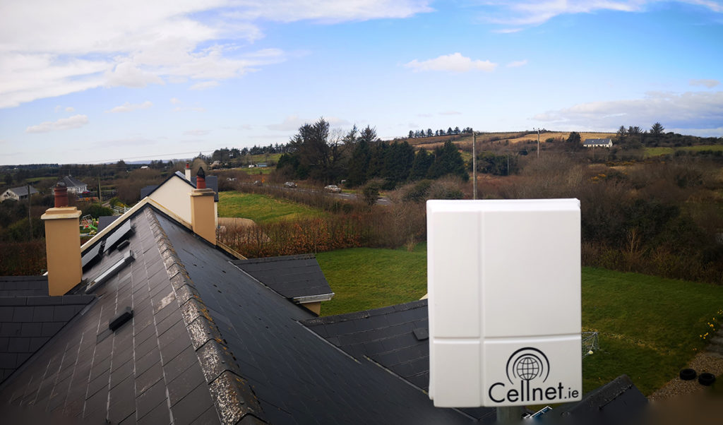 Cellnet antenna on a well-insulated home