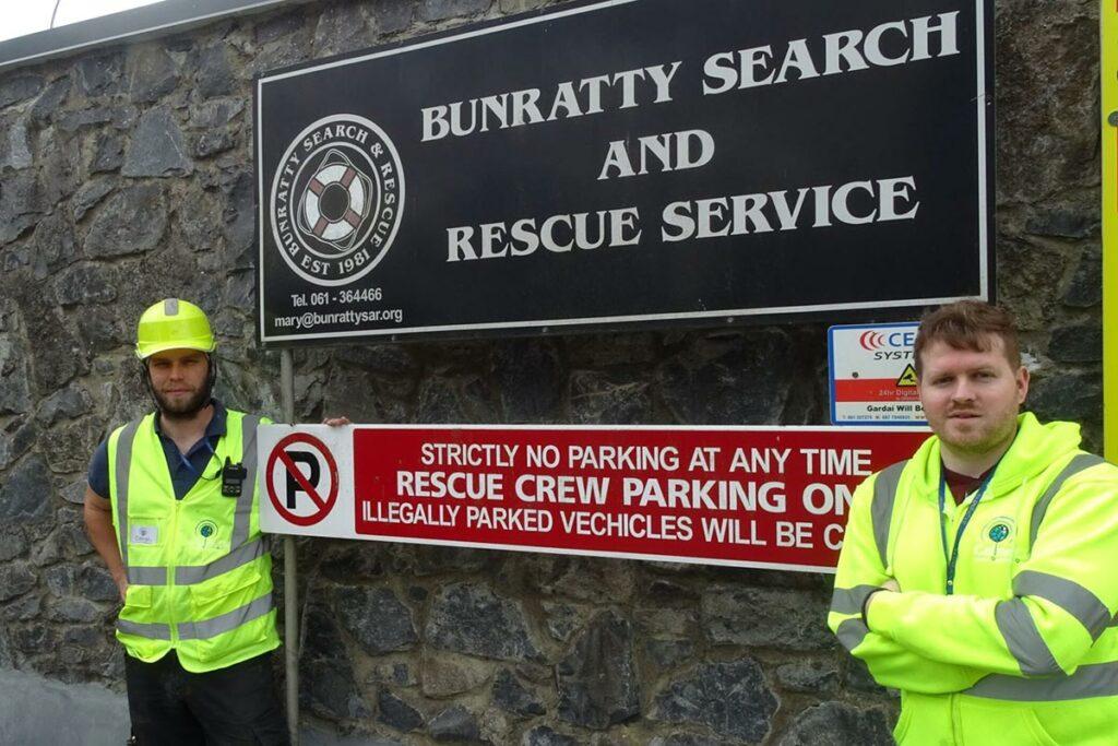 Nick and Jonathan at Bunratty SAR HQ