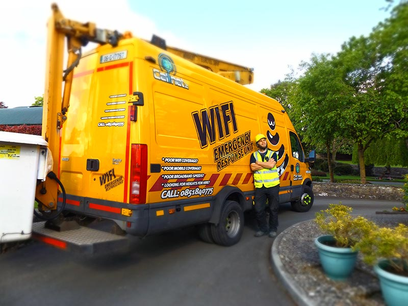 Out and about with Nick and the Cellnet 'cherry-picker' Emergency Response truck
